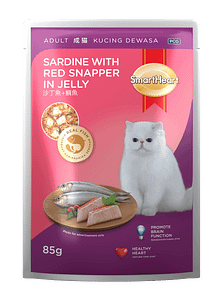 SmartHeart® Sardine with Red Snapper in Jelly